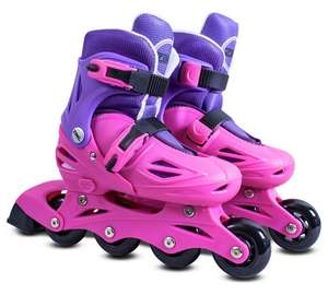 Zinc Inline Roller Skates 13-3 - Pink £10.99 + Free click and collect at Argos