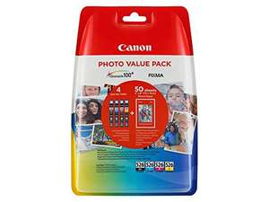 Canon CLI526 Value Pack (4 ink plus paper) £27.99 @ Amazon
