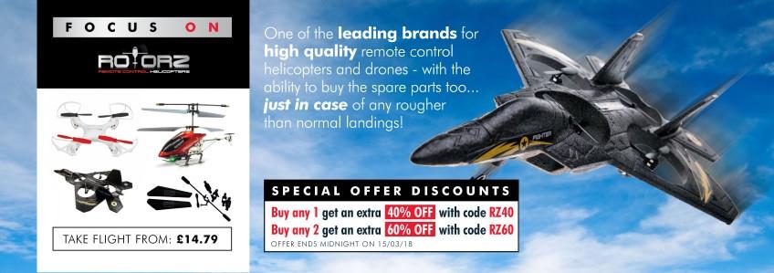 40% off Rotorz drones - Code: RZ40 - Memory Bitys