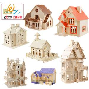 3D puzzles wooden houses for children from £3.26 @ Aliexpress / child classic toy Store