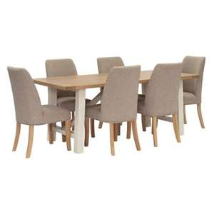 Willis & Gambier Oak Table and 6 Chairs £810 @ Debenhams