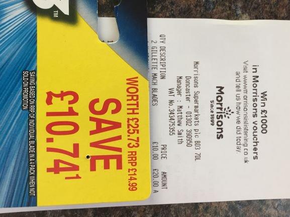 10 Gillette Mach 3 Turbo Blades £10 @ Morrisons - Doncaster