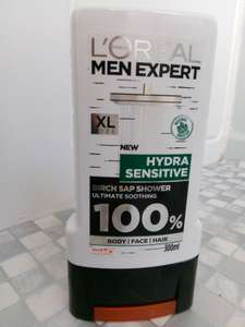 L'Oréal Men Expert Hydra Sensitive Shower Gel 300ml 75p @ Wilko Greenock