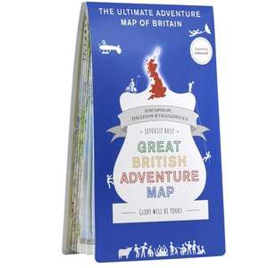 Extra 20% off RRP of ST&G's Great British Adventure Map with Code @ Ordnance Survey