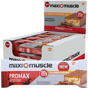 Amazon - Maximuscle Promax High Protein Bar, Chocolate Brownie, 60 g, Pack of 12 £10.30 prime / £15.25 non prime @ Amazon