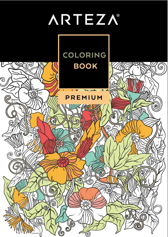 FREE Arteza Downloadable Premium Coloring Book