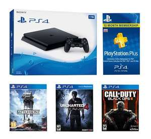 Sony PlayStation 4 1TB Black Console With 3 Games + 12 Months Plus Bundle. £319.99 + £3.95 del @ Littlewoods ebay. Only 2 left