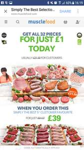 Muscle food deal - 	Simply The Best Fresh Lean Meat Hamper £39 + second hamper for £1  - £44.99 delivered @ Muscle foods