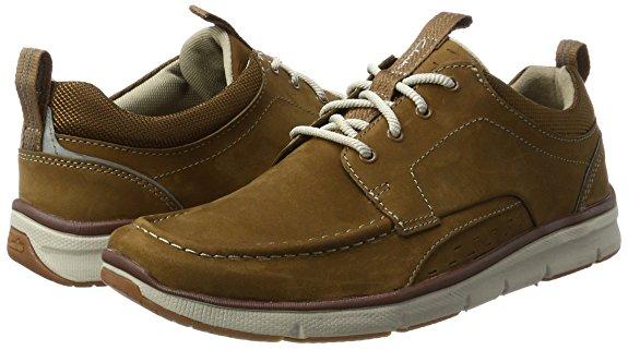 Clarks Men's Orson Bay Low-Top Sneakers (Brown) - was £80 now £24 @ Amazon