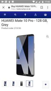 Huawei Mate 10 Pro -128GB- Grey £529 @ Currys
