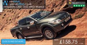 Mitsubishi L200 diesel  contract - £190.50 24 months initial rental 9 months £1714.50 annual mileage 5000 processing fee £198 - £6484.50 @ Wessex fleet