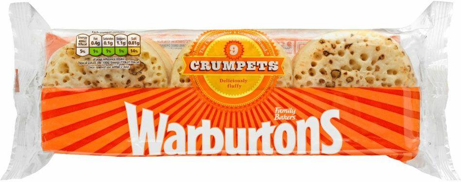 Warburtons Crumpets (9 pack) - £1 @ Morrisons