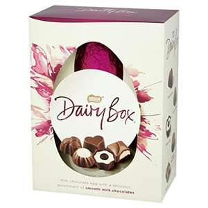 Nestle Dairy Box Premium Chocolate Egg, 380 g amazon pantry 2.99 deivery for first box then 99 p after
