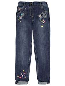 Girls hedgehog\ rabbit embroidered jeans age 2-3 now £6-50 @ Asda