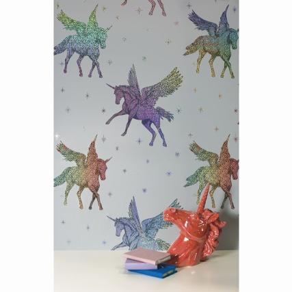 Unicorn wallpaper £21.99 a roll @ B&M