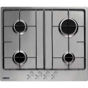 Zanussi ZGG65414SA 4 Burner Gas Hob in Stainless Steel £79 + £3.99 Del @ Co-op Electrical