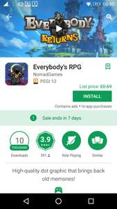 Everybody's RPG​, from 69p, but currently free (for 7 day's) - with in-app purchases, at Google Play