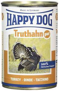 60x Happy Dog Food 100% Turkey 400g Tins £26.40 @ Amazon using code AMAZONCRUFTS (works out at 44p/tin)