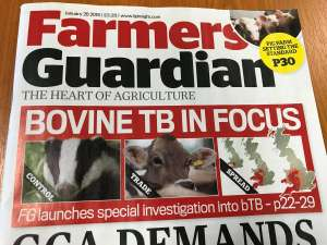 Free - 4 copies of Farmers' Guardian magazine