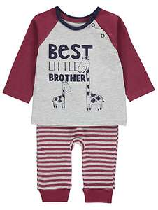 Best Little Brother giraffe top & bottoms set, all sizes upto 12-18 months now £4 @ Asda George