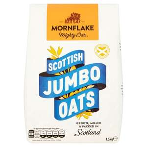 Mornflake Scottish Jumbo Oats 1.5kg Save 25%, Was £2.59 Now £1.94 @ Ocado