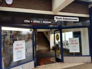 25% off everything at the 'that's entertainment' store in st helens