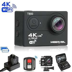 Meerveil T800 4K Action Camera Sport Camera WiFi Ultra HD Waterproof Camera Camcoder with 16MP Sony Sensor - £35.99 @ sold by Zillon and Fulfilled by Amazon.