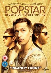 Popstar - Never Stop Never Stopping (with UltraViolet Copy) [DVD] free delivery - £3 @ zoom