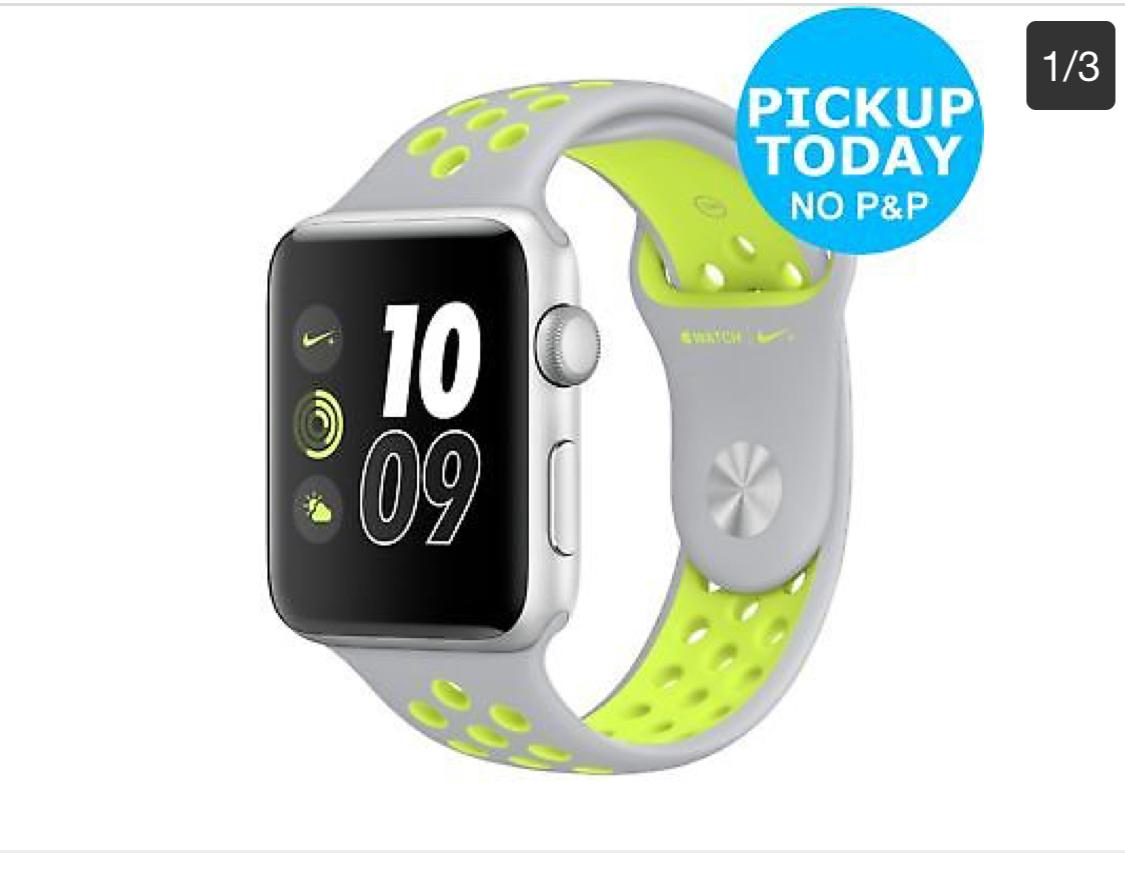 Apple Watch Nike(Series 2)+ 42mm Silver Alu Case/Silver Volt Band WiFi , £242.99 from Argos eBay free c&c