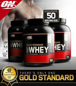 Optimum Nutrition Gold Standard Whey Protein -BUY 1 GET 1 50% OFF @ BodyBuilding.com