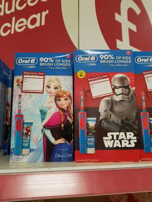 Kids Frozen & Star Wars Oral B rechargeable toothbrushes with toothpaste £5 Wilko Chatham