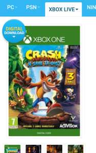 Crash Bandicoot Nsane trilogy Xbox one £26.12 with Apple Pay @ CDKeys