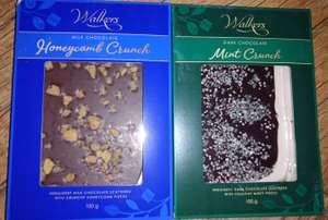 Walkers Milk Chocolate Honeycomb Crunch Slab 100g Or Dark Chocolate Mint Crunch Slab 100g, 50p In Store @ Poundland