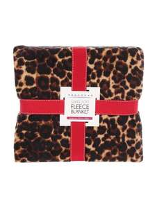 Leopard print fleece blanket £5.00 (was £10.00) @ Peacocks - Free C+C