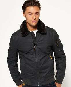 New Mens Superdry Winter Flite Jacket Dark Charcoal at Superdry Store Ebay for £68.99