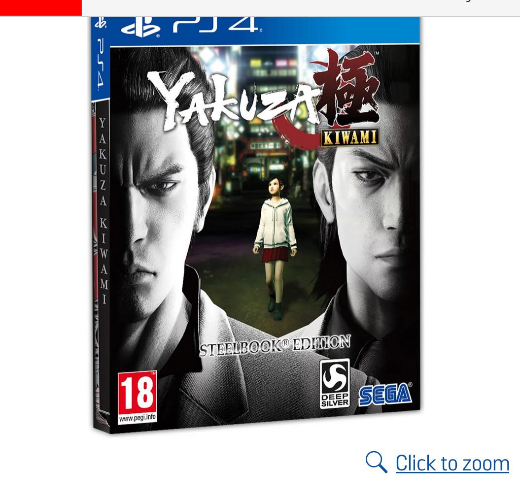 Yakuza Kiwami Steelbook Edition PS4 Game , £15.99 At Argos free c&c