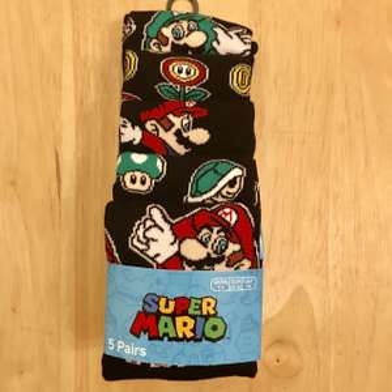 Official Nintendo Mario socks, 5 pairs for £6 Primark in store! Letsa go....