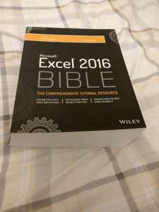 Excel 2016 Bible (Paperback, 1,152 pages) £22.09 delivered @ Amazon