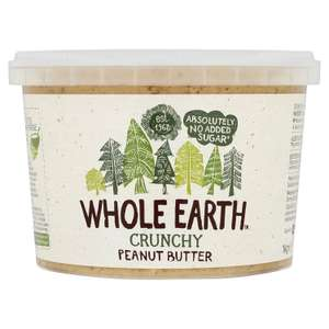 Whole Earth Crunchy Peanut Butter / 1Kg / £5 @ B&M