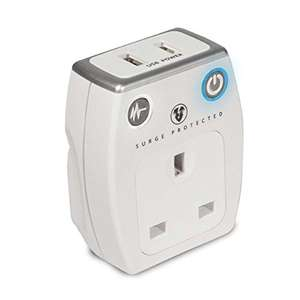 Masterplug  2.1 A USB Charger with Plug Surge Socket - White £5.97 (Prime) £8.50 (Non prime) @ Amazon