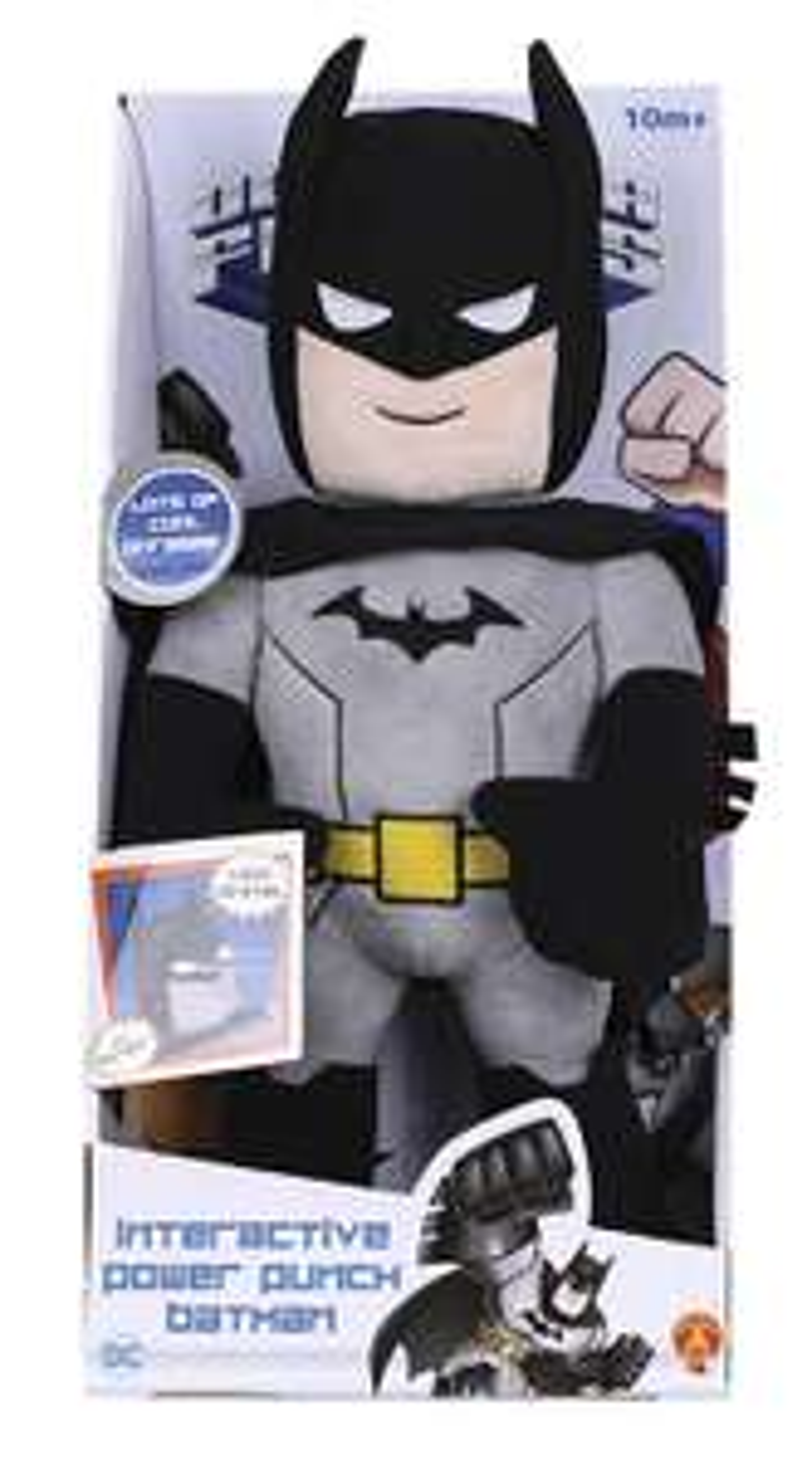 *POW* DC Super Friends Interactive Power Punch Batman Soft Toy. Was £26.99 Now £13.16 @ Tesco -  Free C&C