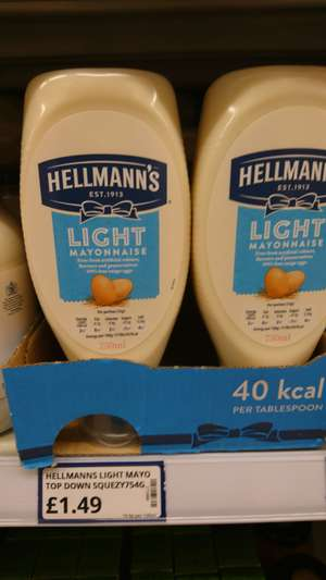 Hellmanns squeezy mayo 750ml £1.49 @ Poundstretcher
