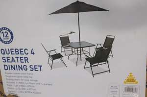 4 seater dining set £95.07 @ Homebase