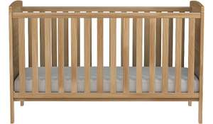 Solid Pinewood Cot bed £71.95 delivered @ Asda George