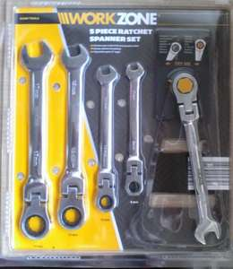 Workzone Ratchet Spanner set £6.99 in store @ Aldi