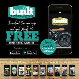 Free First Download Issue of Built Magazine Handcrafted Motorcyles on Android or Itunes