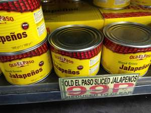 1kg Old El Paso Sliced Green 3* Hot Jalapeños Tins - 99p @ Abu Bakr (Leeds) RRP £6.40kg!