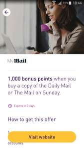 Buy the daily mail and receive 1000 nectar points (found via the app)