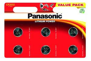 Panasonic CR2032 Lithium 3 Volt Battery card of 6 £1.81 Amazon old by Jt247