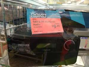 Reka DAB and FM bluetooth radio reduced to £9.99 at Aldi instore